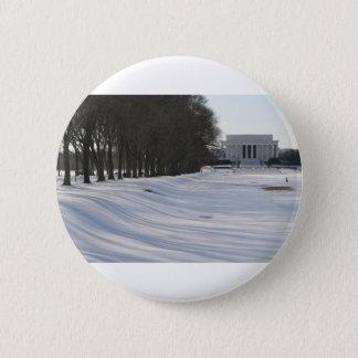 lincoln memorial snow pinback button
