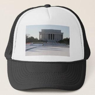 lincoln memorial snow trucker hat