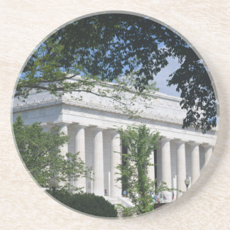 Lincoln Memorial through Trees.JPG Beverage Coasters