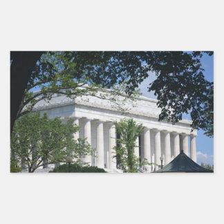 Lincoln Memorial through Trees.JPG Rectangular Sticker