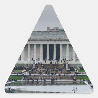 Lincoln Memorial Triangle Sticker