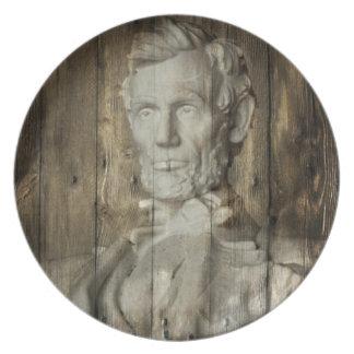 Lincoln Memorial washington dc Abraham Lincoln Dinner Plate