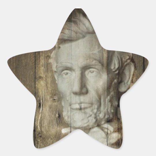 Lincoln Memorial washington dc Abraham Lincoln Star Sticker