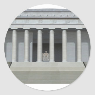 Lincoln Memorial: Washington DC Classic Round Sticker