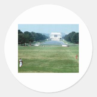 Lincoln Memorial Washington DC Nations capital Classic Round Sticker