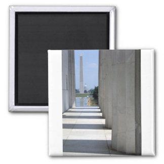 lincoln memorial washington monument 2 inch square magnet