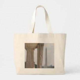 lincoln memorial washington monument tote bags