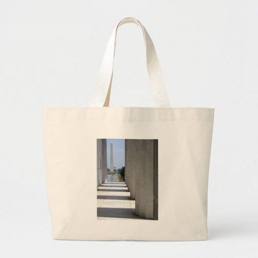 lincoln memorial washington monument canvas bag
