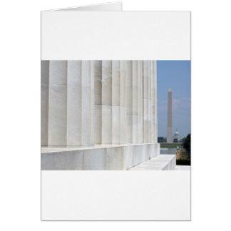 lincoln memorial washington monument card