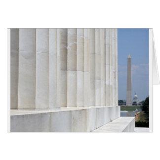lincoln memorial washington monument cards