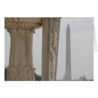 lincoln memorial washington monument greeting cards