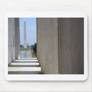 lincoln memorial washington monument mouse pad