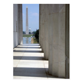lincoln memorial washington monument post card