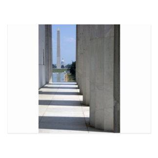lincoln memorial washington monument postcards