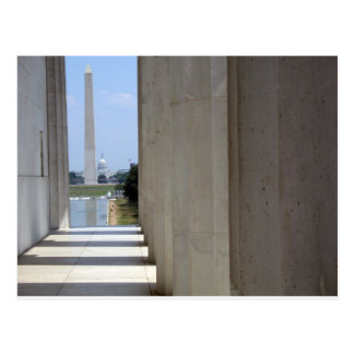 lincoln memorial washington monument postcard