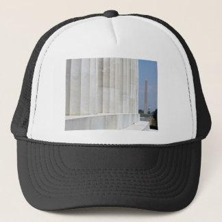 lincoln memorial washington monument trucker hat