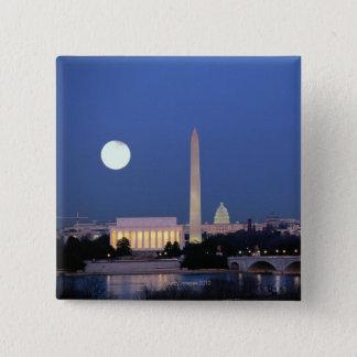 Lincoln Memorial, Washington Monument, US Button