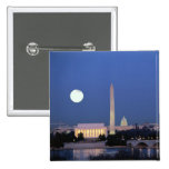 Lincoln Memorial, Washington Monument, US Pinback Buttons