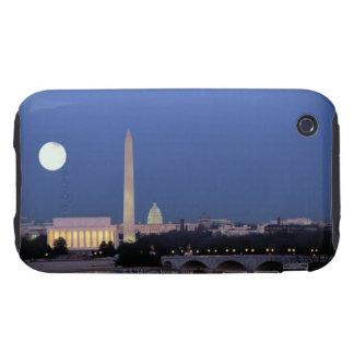 Lincoln Memorial, Washington Monument, US iPhone 3 Tough Case