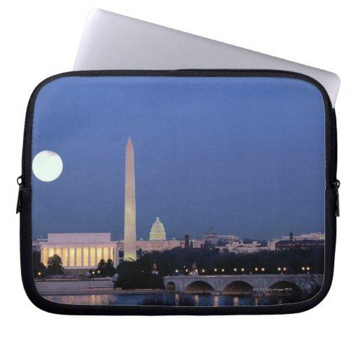 Lincoln Memorial, Washington Monument, US Laptop Sleeves