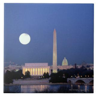 Lincoln Memorial, Washington Monument, US Large Square Tile