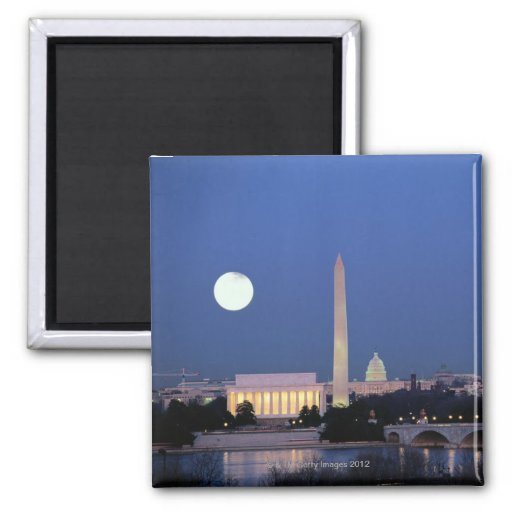 Lincoln Memorial, Washington Monument, US Magnet