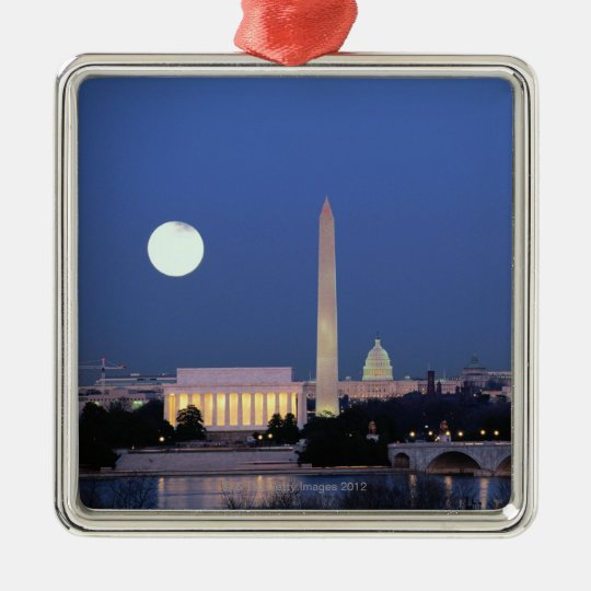 Lincoln Memorial, Washington Monument, US Metal Ornament