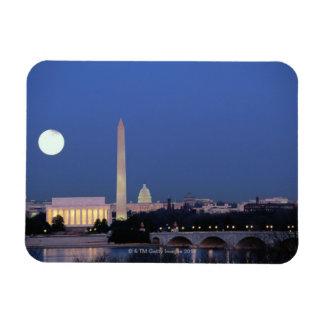Lincoln Memorial, Washington Monument, US Rectangular Photo Magnet