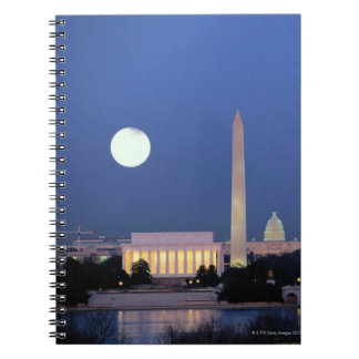 Lincoln Memorial, Washington Monument, US Spiral Notebook