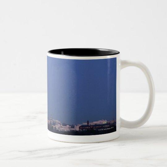 Lincoln Memorial, Washington Monument, US Two-Tone Coffee Mug