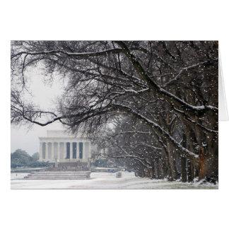 lincoln memorial winter snow card