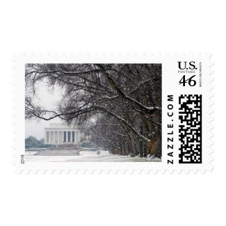 lincoln memorial winter snow stamp