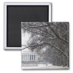 lincoln memorial winter snow refrigerator magnets