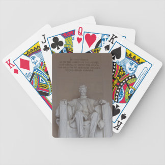 Lincoln Monument Bicycle Playing Cards