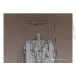 Lincoln Monument Card
