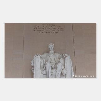 Lincoln Monument Rectangular Sticker
