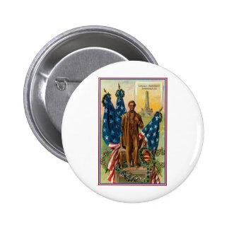Lincoln Monument Springfield Ill Vintage Americana Pinback Button