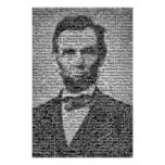 Lincoln Mosaic Poster