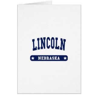 Lincoln Nebraska College Style tee shirts Greeting Card