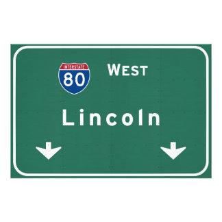 Lincoln Nebraska ne Interstate Highway Freeway : Photo Print