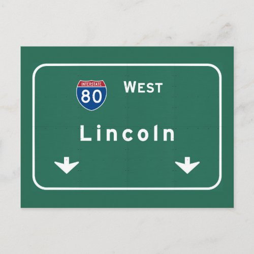 Lincoln Nebraska ne Interstate Highway Freeway  Postcard