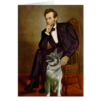 Lincoln - Norwegian Elkhound Greeting Card