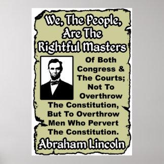 Lincoln: ¡Nosotros la gente! Póster