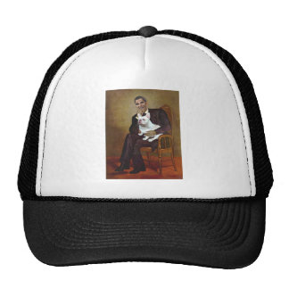 Lincoln-Obama-FrenchBD - W Trucker Hat