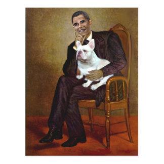 Lincoln-Obama-FrenchBD - W Post Card
