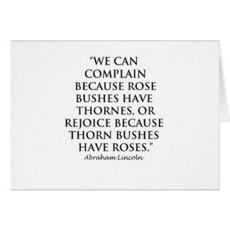 Lincoln: on  Thornes and Roses (Clear) Card