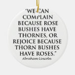 Lincoln: on  Thornes and Roses (Clear) Ornament