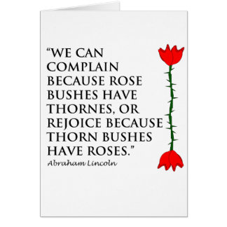 Lincoln: on Thornes and Roses (One Rose). Card