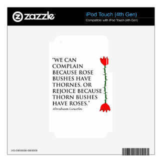 Lincoln: on Thornes and Roses (One Rose). iPod Touch 4G Skins