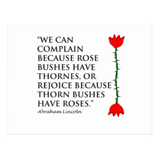Lincoln: on Thornes and Roses (One Rose). Postcard